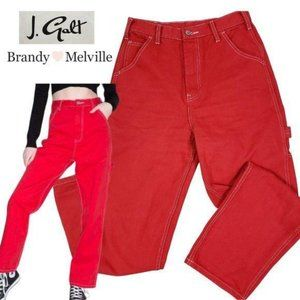 BRANDY MELVILLE Red Ariana Painter Jeans Pants M